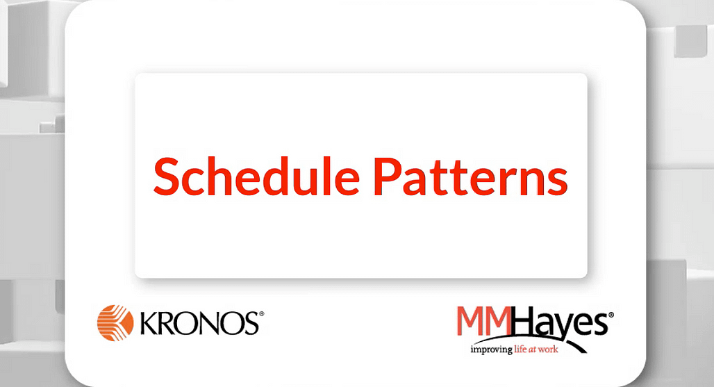 Assigning a Schedule Pattern