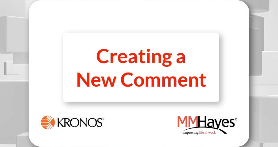 Creating a New Comment