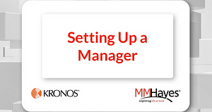 Setting up a Manager