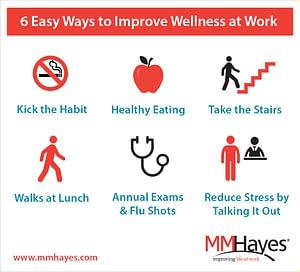 6 ways to improve wellness at work