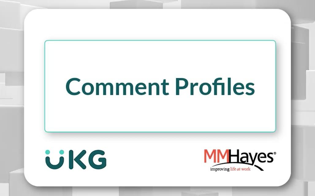 Comment Profiles