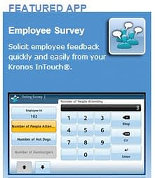 Kronos InTouch App Platform