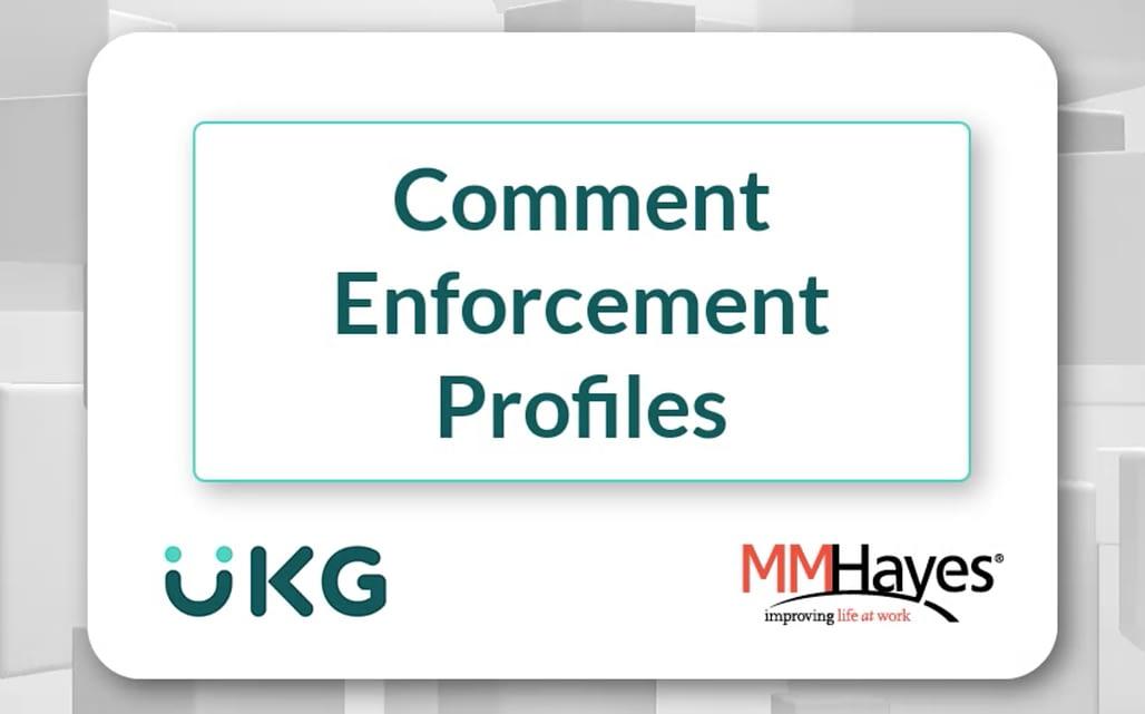 Comment Enforcement Profiles
