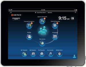 kronos workforce task management on tablet