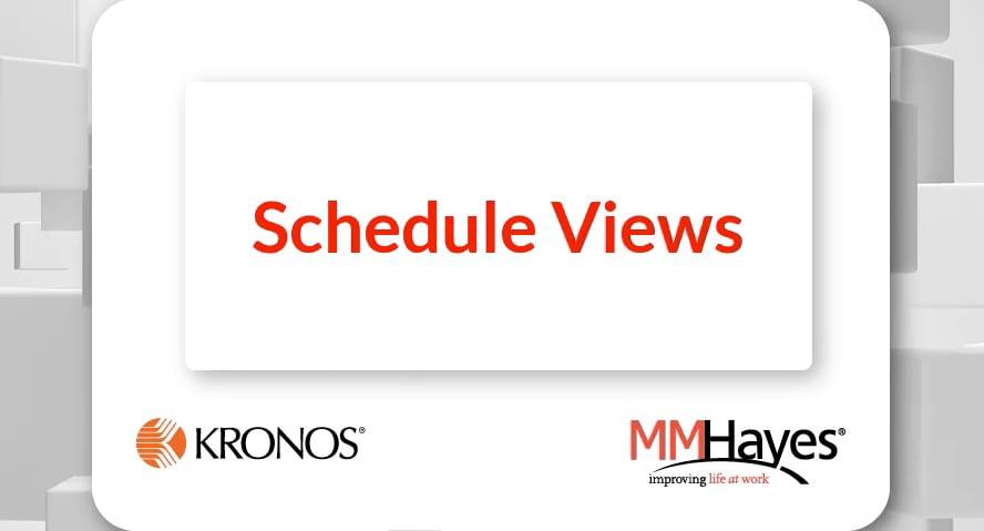 Schedule Views